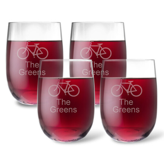 Design Your Own Personalized Tritan Acrylic Stemless Wine Set