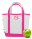 Personalized Pink Trimmed Cutest Little Tote Bag Image 1 of 5