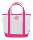 Personalized Pink Trimmed Cutest Little Tote Bag Image 2 of 5