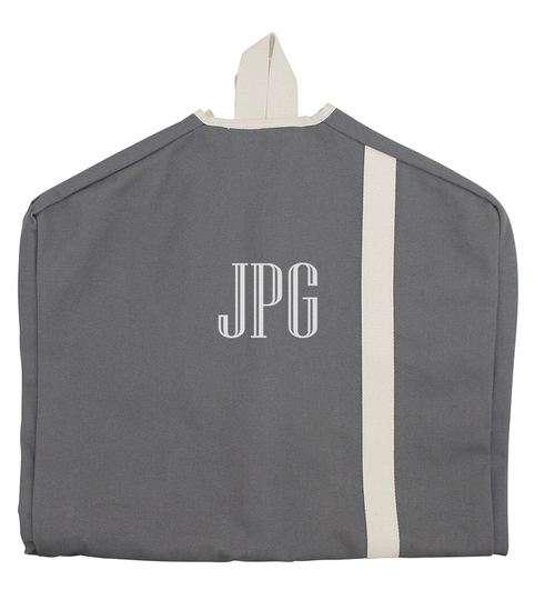 Personalized Grey Garment Bag