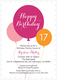 Pink Birthday Balloons Invitations Image 5 of 10