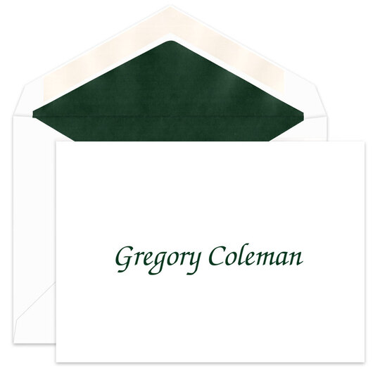 Informal Chancery Foldover Note Cards