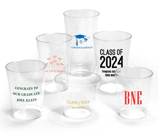 Design Your Own Graduation Clear Plastic Cups