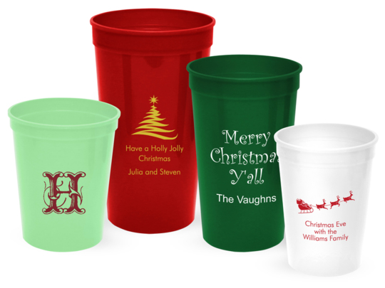 Personalized Stadium Cups for Christmas