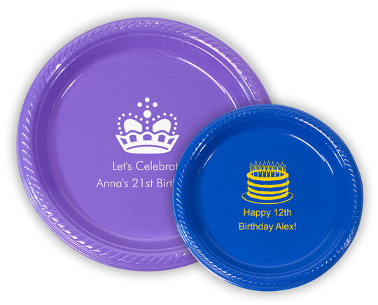 Personalized Plastic Plates for Birthdays