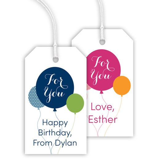 For You Balloon Hanging Gift Tags