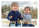 Happy Holidays Foil Flat Photo Cards Image 5 of 7