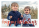Happy Holidays Foil Flat Photo Cards Image 6 of 7
