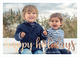 Happy Holidays Foil Flat Photo Cards Image 7 of 7