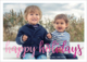 Happy Holidays Foil Flat Photo Cards Image 2 of 7