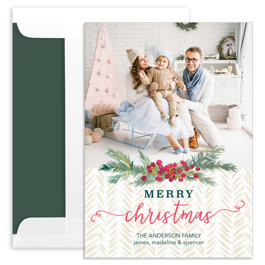 Berry Swag Holiday Photo Cards
