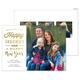 White Happy Holidays and New Year Foil Photo Cards Image 5 of 6