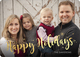 Happy Holidays Starburst Gold Foil Holiday Photo Cards Image 5 of 5