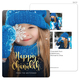 Happy Chanukah Gold Starburst Vertical Photo Cards Image 5 of 6