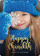 Happy Chanukah Gold Starburst Vertical Photo Cards Image 6 of 6