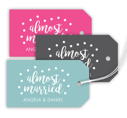 Almost Married Confetti Hanging Gift Tags