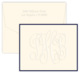 Henley Grand Monogram Embossed Border Folded Note Cards Image 1 of 2