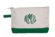 Personalized Emerald Trimmed Cosmetic Bag Image 1 of 2