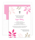 Pink and Tan Botanical Leaves with Cross Invitations Image 1 of 4