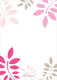 Pink and Tan Botanical Leaves with Cross Invitations Image 2 of 4