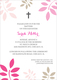 Pink and Tan Botanical Leaves with Cross Invitations Image 3 of 4