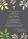 Grey and Yellow Botanical Leaves with Cross Invitations Image 3 of 4