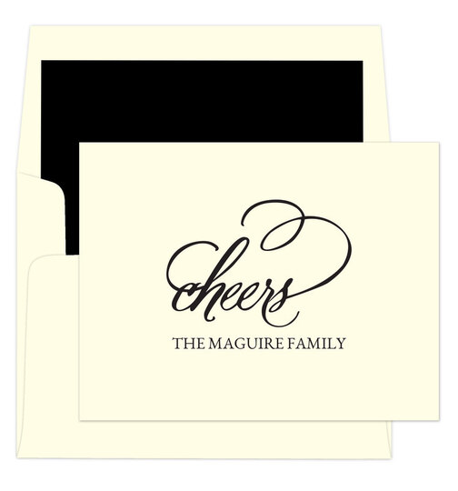 Refined Cheers Foldover Note Cards