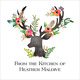 Floral Decorated Deer Square Gift Stickers Image 2 of 3