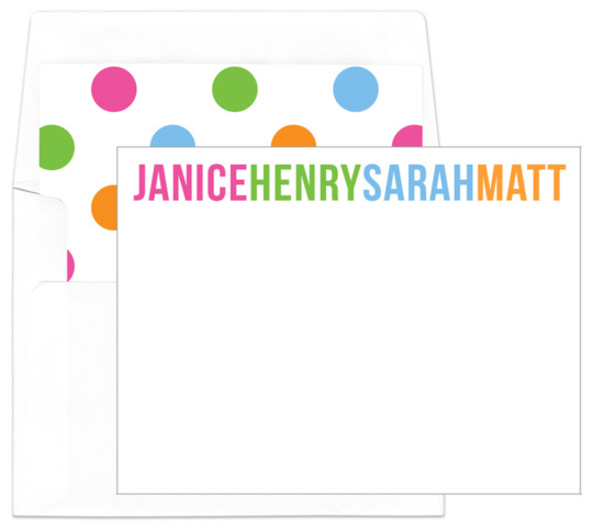 Bright Family Flat Note Cards