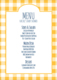 Yellow Gingham Menu Cards Image 3 of 4