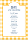 Yellow Gingham Menu Cards Image 4 of 4