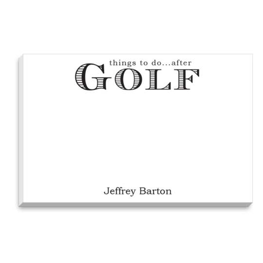 Golf Big and Bold Notepads