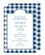 Navy Gingham Invitations Image 1 of 5