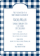 Navy Gingham Invitations Image 5 of 5