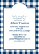 Navy Gingham Invitations Image 4 of 5