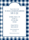 Navy Gingham Invitations Image 3 of 5