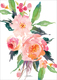 Watercolor Bouquet Wedding Announcements Image 2 of 2