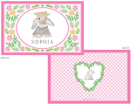 Bunny Love Laminated Placemat