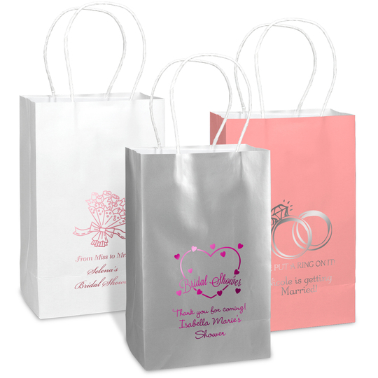 Design Your Own Bridal Shower Medium Twisted Handled Bags