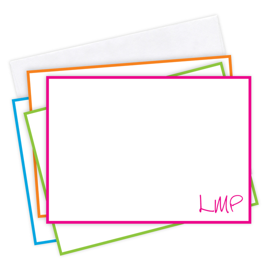 Caribbean Border Flat Initials Note Card Collection