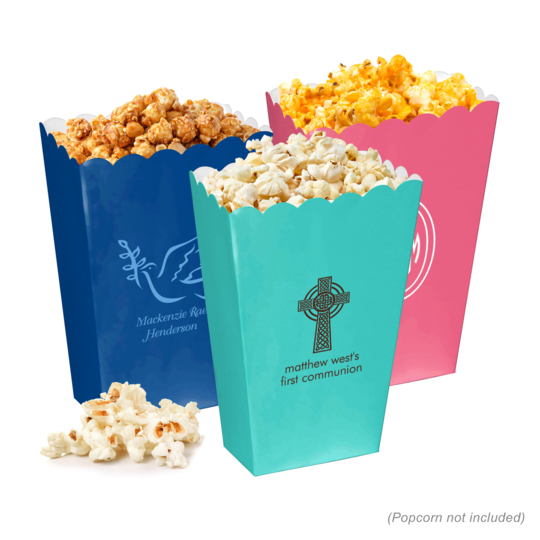Personalized Mini Popcorn Boxes for First Holy Communion