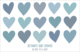 Blue Multi Hearts Placemats Image 1 of 2