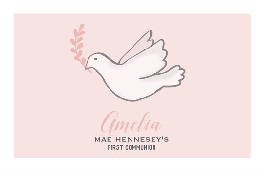 Pink Dove Placemats