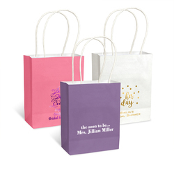 Design Your Own Bridal Shower Mini Twisted Handled Bags