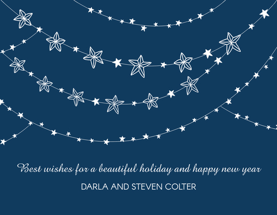 Garland of Stars Flat Holiday Cards