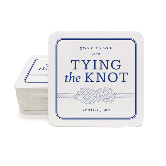 Tying the Knot Square Coasters