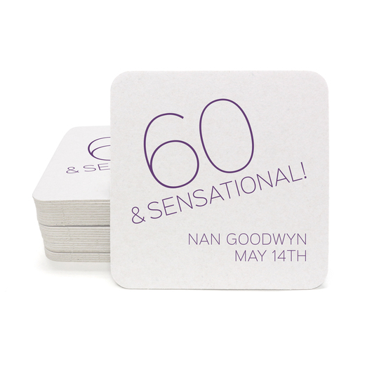 60 and Sensational Square Coasters