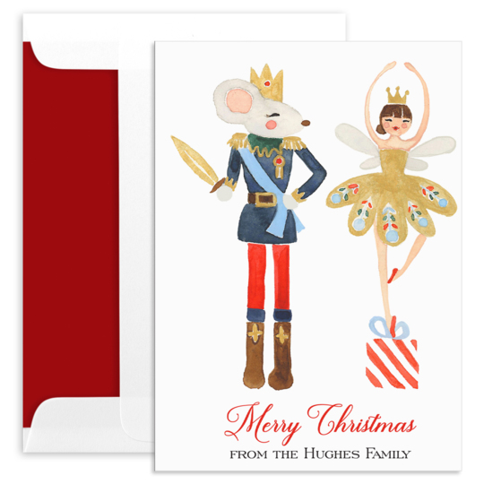 King and Sugar Plum Fairy Folded Holiday Cards