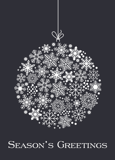 Snowflake Ornament Folded Holiday Cards