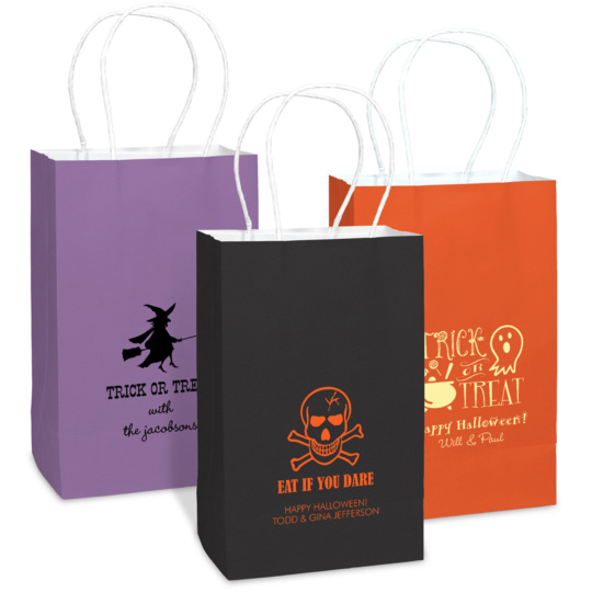 Design Your Own Halloween Medium Twisted Handled Bags for Halloween